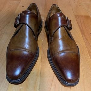 Single Monk Brown Leather Dress shoes 9.5-10